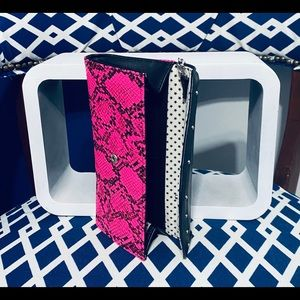 Pink and black snake clutch
